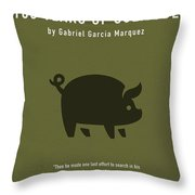 One Hundred Years Of Solitude Greatest Books Ever Series 012 Throw Pillow