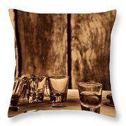 One Last Drink Throw Pillow