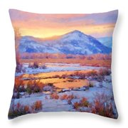 One Last Winters Eve Throw Pillow