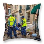One Leak - Eight Men Throw Pillow