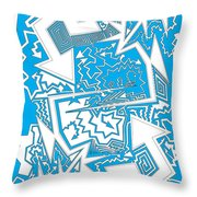 One Liner X Jtl Throw Pillow