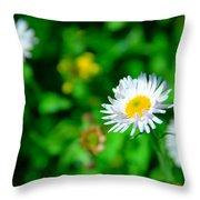 One Little Wildflower Throw Pillow