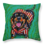 One Lucky Dog Throw Pillow