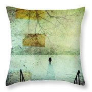 One Man In The Winter Of His Life Throw Pillow
