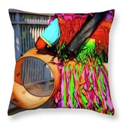 One Man Parade Throw Pillow