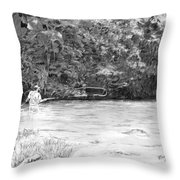 One More Cast Throw Pillow