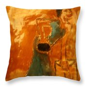 One More Hour - Tile Throw Pillow