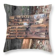 One More Mile Throw Pillow