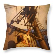 One More Step Mr. Hands - N.c. Wyeth Painting Throw Pillow