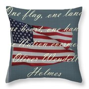 One Nation Throw Pillow by April Wietrecki Green