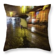 One Night In Paris Throw Pillow