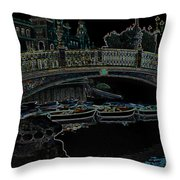 One Night In Saville Throw Pillow