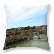 One Of Rome's Bridge Throw Pillow