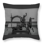 One Of The First Sewing Machines Throw Pillow
