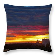 One Of The Prettiest Sunrises Throw Pillow