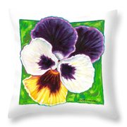 One Pansy For Marti Throw Pillow
