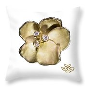 One Pansy Throw Pillow
