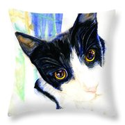 One Paw In Heaven Throw Pillow