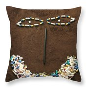 One Pill Makes You...go Ask Alice Throw Pillow