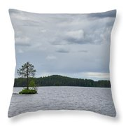 One Pine Island. Koirajarvi Throw Pillow