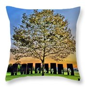 One Positive Eight Negatives Throw Pillow