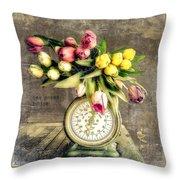 One Pound Tulips Throw Pillow