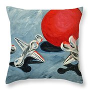 One Red Ball Throw Pillow
