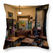 one Room School House Throw Pillow