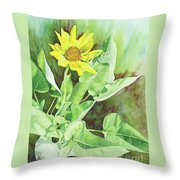 One Rooting In The Sun Throw Pillow