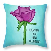 One Rose Everyday Throw Pillow