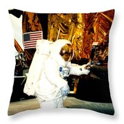 One Small Step For Man Throw Pillow