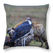 One Stork Throw Pillow