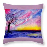 One Sunrise Throw Pillow