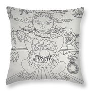 One Thru Nine Drawing Throw Pillow