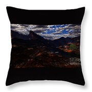 One Tree Valley Throw Pillow