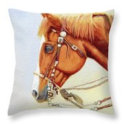 One Tricked Out Cowpony Throw Pillow