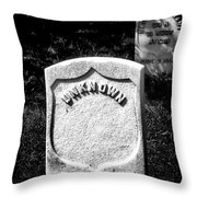 One Unknown Throw Pillow