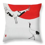 One Up One Down Throw Pillow