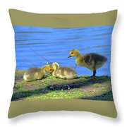 One Up Two Down Throw Pillow