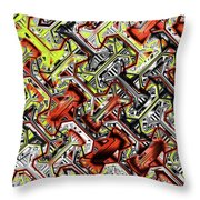 One Version Yellow And Red Abstract Throw Pillow