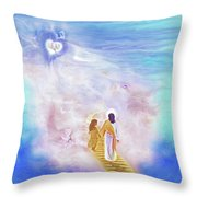 One Way To God Throw Pillow
