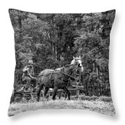 One With The Land - Bw Throw Pillow