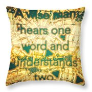 One Word Throw Pillow
