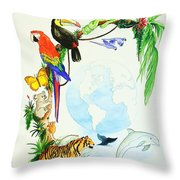 One World Throw Pillow