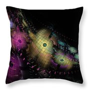 One World No.6 - Fractal Art Throw Pillow by NirvanaBlues