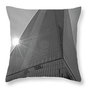 One World Trade Center New York Ny Sunset Black And White Throw Pillow