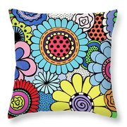 One Yellow Bloom Throw Pillow
