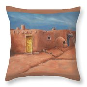 One Yellow Door Throw Pillow by Jerry McElroy