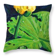 One Yellow Lily Throw Pillow