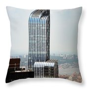 One57 And Park Hyatt Hotel In Nyc Throw Pillow